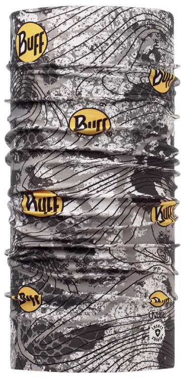 Бандана Buff Active Insect Shield Latitude Logo, цвет: серый. 108602.00. Размер универсальный108602.00Buff - это оригинальные, мультифункциональные, бесшовные головные уборы - удобные и комфортные для любого вида активного отдыха и спорта. Оригинальные, потому что Buff был и является первым в мире брендом мультифункциональных, бесшовных и универсальных головных уборов. Мультифункциональные, потому что их можно носить самыми разными способами: как шарф, как шапку, как балаклаву, косынку, бандану, маску, напульсник и многими другими - решает ваша фантазия! Универсальный головной убор, который можно носить более чем двенадцатью способами, который можно использовать при занятии любым видом спорта, езде на велосипеде и мотоцикле, катаясь или бегая на лыжах, и даже как аксессуар в городской одежде. Бесшовные, благодаря эластичности, позволяющей использовать эти головные уборы как угодно и не беспокоиться о том, что кожа может быть натерта или раздражена швами. Размер (обхват головы): 53-62 см.