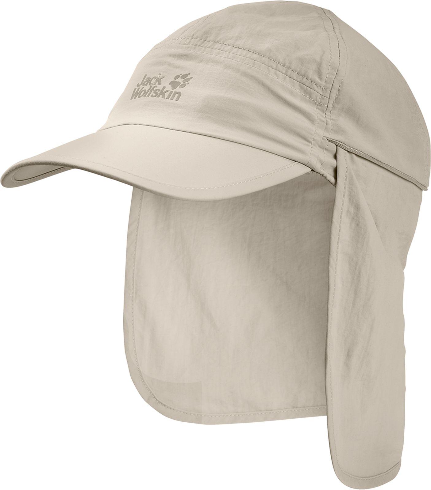 Кепка Jack Wolfskin Supplex Canyon Cap, цвет: молочный. 1905891-5505. Размер M (54/57)1905891-5505Кепка Supplex Canyon Cap идеально подходит для путешествий в жарких странах. Верх изделия выполнен из материала SUPPLEX (100% полиамид). Это легкая, мягкая и быстро сохнущая ткань. Подкладка изготовлена из легкого материала COOLMAX MESH (100% полиэстер), который создает прохладу, выводит влагу наружу и обеспечивает комфорт при носке. Кепка обладает высокой защитой от ультрафиолета (UPF 40+), поэтому она идеально защитит вашу голову и лицо от палящего солнца. Кепка также имеет защиту для шеи, которую при необходимости можно свернуть. Модель выполнена в однотонном дизайне и дополнена логотипом бренда.
