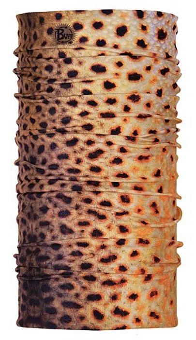 Бандана Buff Brown Trout, цвет: коричневый. 18988. Размер универсальный18988Buff - это оригинальные, мультифункциональные, бесшовные головные уборы - удобные и комфортные для любого вида активного отдыха и спорта. Оригинальные, потому что Buff был и является первым в мире брендом мультифункциональных, бесшовных и универсальных головных уборов. Мультифункциональные, потому что их можно носить самыми разными способами: как шарф, как шапку, как балаклаву, косынку, бандану, маску, напульсник и многими другими - решает ваша фантазия! Универсальный головной убор, который можно носить более чем двенадцатью способами, который можно использовать при занятии любым видом спорта, езде на велосипеде и мотоцикле, катаясь или бегая на лыжах, и даже как аксессуар в городской одежде. Бесшовные, благодаря эластичности, позволяющей использовать эти головные уборы как угодно и не беспокоиться о том, что кожа может быть натерта или раздражена швами. Размер (обхват головы): 53-62 см.