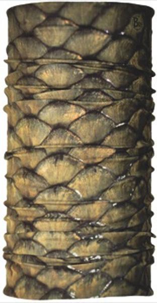 Бандана Buff Carp, цвет: коричневый. 18778. Размер универсальный18778Buff - это оригинальные, мультифункциональные, бесшовные головные уборы - удобные и комфортные для любого вида активного отдыха и спорта. Оригинальные, потому что Buff был и является первым в мире брендом мультифункциональных, бесшовных и универсальных головных уборов. Мультифункциональные, потому что их можно носить самыми разными способами: как шарф, как шапку, как балаклаву, косынку, бандану, маску, напульсник и многими другими - решает ваша фантазия! Универсальный головной убор, который можно носить более чем двенадцатью способами, который можно использовать при занятии любым видом спорта, езде на велосипеде и мотоцикле, катаясь или бегая на лыжах, и даже как аксессуар в городской одежде. Бесшовные, благодаря эластичности, позволяющей использовать эти головные уборы как угодно и не беспокоиться о том, что кожа может быть натерта или раздражена швами. Размер (обхват головы): 53-62 см.