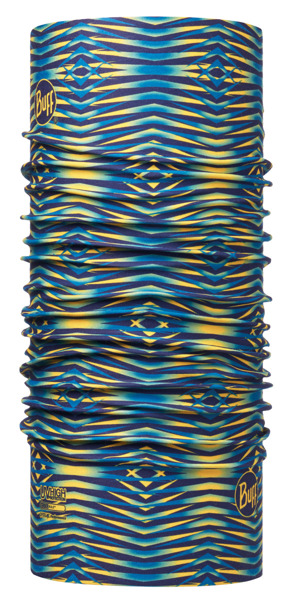 Бандана Buff High UV Fuss Multi, цвет: синий. 113616.555.10.00. Размер универсальный113616.555.10.00Buff - это оригинальные, мультифункциональные, бесшовные головные уборы - удобные и комфортные для любого вида активного отдыха и спорта. Оригинальные, потому что Buff был и является первым в мире брендом мультифункциональных, бесшовных и универсальных головных уборов. Мультифункциональные, потому что их можно носить самыми разными способами: как шарф, как шапку, как балаклаву, косынку, бандану, маску, напульсник и многими другими - решает Ваша фантазия! Универсальный головной убор, который можно носить более чем двенадцатью способами, который можно использовать при занятии любым видом спорта, езде на велосипеде и мотоцикле, катаясь или бегая на лыжах, и даже как аксессуар в городской одежде. Бесшовные, благодаря эластичности, позволяющей использовать эти головные уборы как угодно и не беспокоиться о том, что кожа может быть натерта или раздражена швами.
