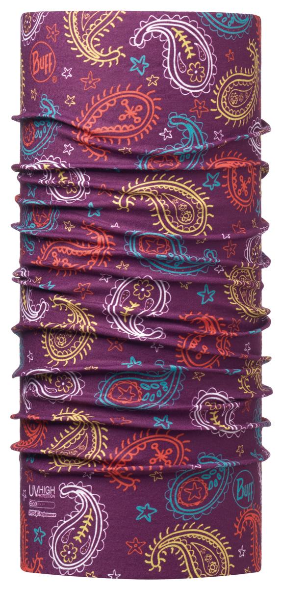 Бандана Buff High UV Mini Cashmere Plum, цвет: фиолетовый. 115081.622.10.00. Размер универсальный115081.622.10.00Buff - это оригинальные, мультифункциональные, бесшовные головные уборы - удобные и комфортные для любого вида активного отдыха и спорта. Оригинальные, потому что Buff был и является первым в мире брендом мультифункциональных, бесшовных и универсальных головных уборов. Мультифункциональные, потому что их можно носить самыми разными способами: как шарф, как шапку, как балаклаву, косынку, бандану, маску, напульсник и многими другими - решает Ваша фантазия! Универсальный головной убор, который можно носить более чем двенадцатью способами, который можно использовать при занятии любым видом спорта, езде на велосипеде и мотоцикле, катаясь или бегая на лыжах, и даже как аксессуар в городской одежде. Бесшовные, благодаря эластичности, позволяющей использовать эти головные уборы как угодно и не беспокоиться о том, что кожа может быть натерта или раздражена швами.