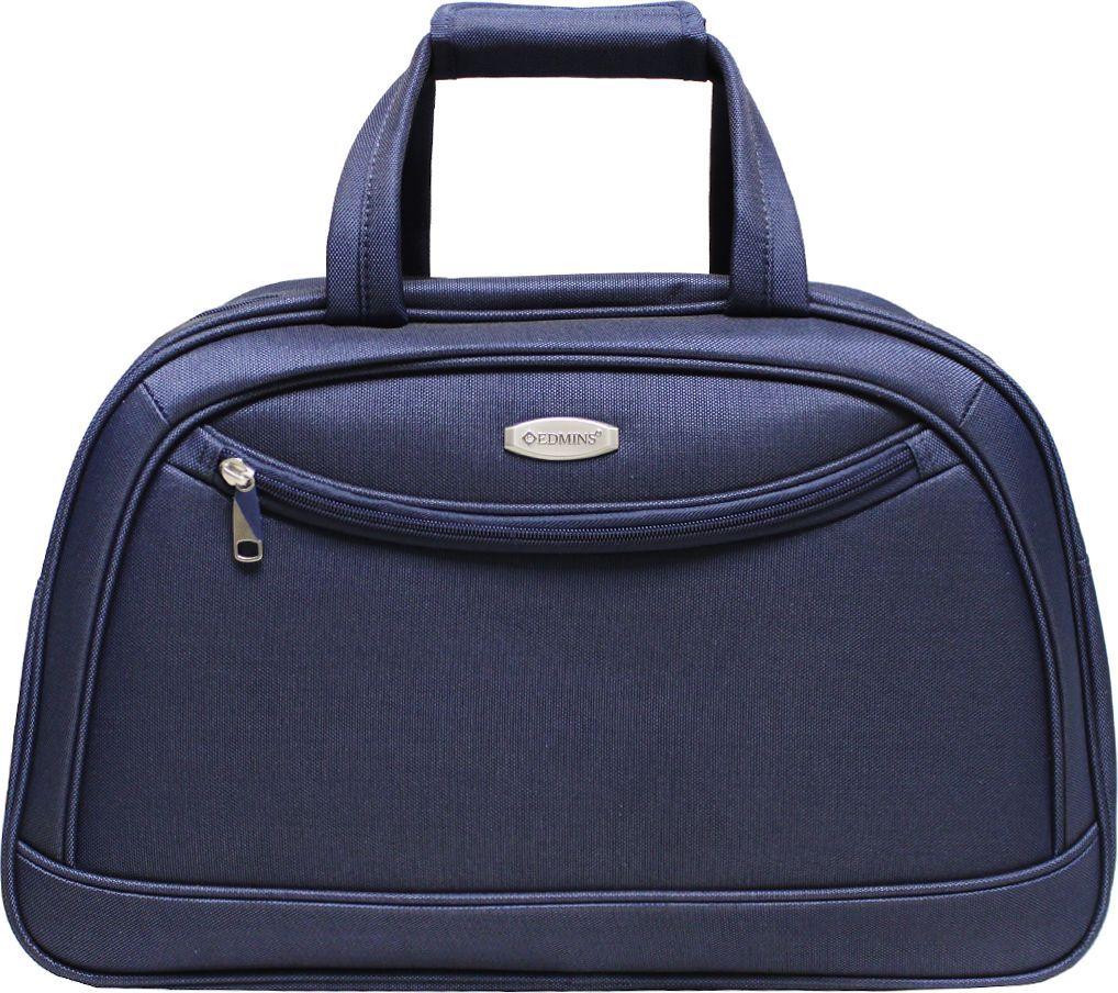 Сумка дорожная Edmins, цвет: синий, 33,5 л. 213 НF 420*1213 НF 420*1Сумка выполнена из легкой, очень прочной ткани, которая великолепно сохраняет форму и проста в уходе. Данная модель удобна и практична: имеет широкий плечевой ремень, 2 ручки-переноски, умный карман, который позволяет одевать сумку на ручку чемодана, освобождая Ваши руки, а также жесткое дно, которое можно поднять, для компактного хранения сумки. Внутри имеется дополнительный карман на молнии. На внешней стороне находится вместительный карман на молнии, который позволяет все самое необходимое хранить под рукой. Максимальная нагрузка: 7кг. Внешние размеры: 51х20х33 см. Вес 1кг. Объем 33,5 л. Гарантия 2 года.