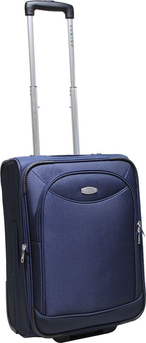 Чемодан-тележка Edmins, цвет: синий, 42 л. 213 НМ 720*1213 НМ 720*1Чемодан изготовлен из прочного полиэстера: ткань проста в уходе и легко чистится и выдерживает температурные перепады. Выдвижная ручка с кнопкой фиксатором. 2 колеса, которые скрыты в корпусе чемодана. Продуманная и удобная внутренняя организация включает: прижимные ремни для фиксации вещей, боковой карман на молнии, на крышке чемодана расположен карман-сетка на молнии, в комплект входит чехол для обуви. Ручка сбоку позволяет пронести чемодан там, где нет возможности катить. Встроенная адресная бирка расположена на задней стенке чемодана. На внешней стороне присутствует вместительный карман на молнии, который позволяет все самое необходимое хранить под рукой. Чемодан имеет функцию увеличения объема! Вес 3,1кг, объем 42л. Внешние габариты: 51х36,5х24 см. Гарантия 2 года.