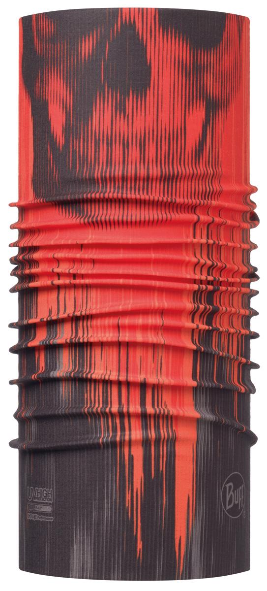 Бандана Buff High UV Wraith Multi, цвет: красный. 115000.555.10.00. Размер универсальный115000.555.10.00Buff - это оригинальные, мультифункциональные, бесшовные головные уборы - удобные и комфортные для любого вида активного отдыха и спорта. Оригинальные, потому что Buff был и является первым в мире брендом мультифункциональных, бесшовных и универсальных головных уборов. Мультифункциональные, потому что их можно носить самыми разными способами: как шарф, как шапку, как балаклаву, косынку, бандану, маску, напульсник и многими другими - решает Ваша фантазия! Универсальный головной убор, который можно носить более чем двенадцатью способами, который можно использовать при занятии любым видом спорта, езде на велосипеде и мотоцикле, катаясь или бегая на лыжах, и даже как аксессуар в городской одежде. Бесшовные, благодаря эластичности, позволяющей использовать эти головные уборы как угодно и не беспокоиться о том, что кожа может быть натерта или раздражена швами.