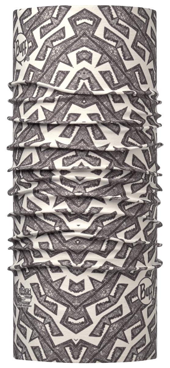 Бандана Buff High UV Zelig Mineral, цвет: серый. 113632.907.10.00. Размер универсальный113632.907.10.00Buff - это оригинальные, мультифункциональные, бесшовные головные уборы - удобные и комфортные для любого вида активного отдыха и спорта. Оригинальные, потому что Buff был и является первым в мире брендом мультифункциональных, бесшовных и универсальных головных уборов. Мультифункциональные, потому что их можно носить самыми разными способами: как шарф, как шапку, как балаклаву, косынку, бандану, маску, напульсник и многими другими - решает Ваша фантазия! Универсальный головной убор, который можно носить более чем двенадцатью способами, который можно использовать при занятии любым видом спорта, езде на велосипеде и мотоцикле, катаясь или бегая на лыжах, и даже как аксессуар в городской одежде. Бесшовные, благодаря эластичности, позволяющей использовать эти головные уборы как угодно и не беспокоиться о том, что кожа может быть натерта или раздражена швами.