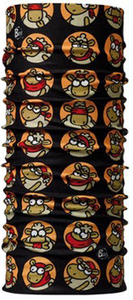 Бандана Buff Licenses Kukuxumusu Original Buff Positions, цвет: черный. 100845/17811. Размер универсальный100845/17811Buff - это оригинальные, мультифункциональные, бесшовные головные уборы - удобные и комфортные для любого вида активного отдыха и спорта. Оригинальные, потому что Buff был и является первым в мире брендом мультифункциональных, бесшовных и универсальных головных уборов. Мультифункциональные, потому что их можно носить самыми разными способами: как шарф, как шапку, как балаклаву, косынку, бандану, маску, напульсник и многими другими - решает Ваша фантазия! Универсальный головной убор, который можно носить более чем двенадцатью способами, который можно использовать при занятии любым видом спорта, езде на велосипеде и мотоцикле, катаясь или бегая на лыжах, и даже как аксессуар в городской одежде. Бесшовные, благодаря эластичности, позволяющей использовать эти головные уборы как угодно и не беспокоиться о том, что кожа может быть натерта или раздражена швами. Размер (обхват головы): 53-62 см.