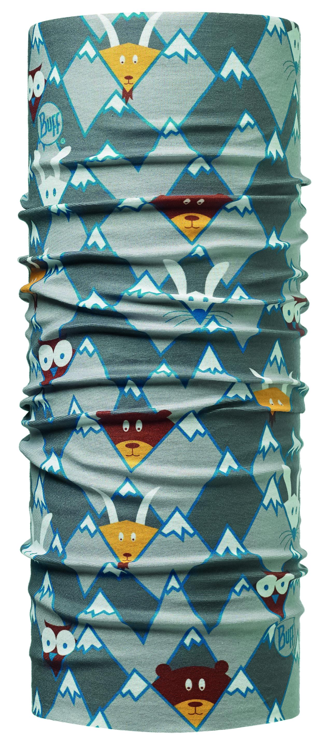 Бандана Buff Original Child Hidding Grey-Grey-Standard, цвет: серый. 113421.937.10.00. Размер универсальный113421.937.10.00Buff - это оригинальные, мультифункциональные, бесшовные головные уборы - удобные и комфортные для любого вида активного отдыха и спорта. Оригинальные, потому что Buff был и является первым в мире брендом мультифункциональных, бесшовных и универсальных головных уборов. Мультифункциональные, потому что их можно носить самыми разными способами: как шарф, как шапку, как балаклаву, косынку, бандану, маску, напульсник и многими другими - решает Ваша фантазия! Универсальный головной убор, который можно носить более чем двенадцатью способами, который можно использовать при занятии любым видом спорта, езде на велосипеде и мотоцикле, катаясь или бегая на лыжах, и даже как аксессуар в городской одежде. Бесшовные, благодаря эластичности, позволяющей использовать эти головные уборы как угодно и не беспокоиться о том, что кожа может быть натерта или раздражена швами.