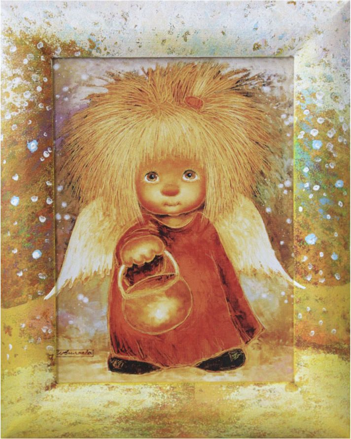 Жикле на холсте Artangels Ангел, освещающий жизненный путь в расписном багете, 18 х 24 см. Автор Люся Чувиляева. 40284028Жикле размером 18 х 24 см в деревянном расписном багете Ангел, освещающий жизненный путь.Авторское жикле в расписанной вручную раме. Современный мир насчитывает огромное количество изображений искусства, каждое из которых создается по своей технике. Например, жикле – это художественная печать на холсте и бумаге. Это современный вид искусства, который включает в себя использование разнообразных принтеров для репродукции картин в самом высочайшем качестве. К преимуществам использования данного вида искусства относят следующие показатели – долговечность полученного изображения, высочайшее качество отображения. Жикле – это французское слово, которое как раз и означает распыление, чтобы создать высококачественный шедевр, необходимо задействовать специальные принтеры. А в качестве материалов, которые необходимы для печати, используют специализированные холсты на основе хлопка или льна, помимо этого задействуются следующие материалы – высококачественные составы красок, акварельная бумага и другие характерные для этого вида искусства специализированные материалы. Безусловно, сейчас существует большое количество других способов цветопередачи, однако именно жикле обеспечивает максимальное качество, долговечность.