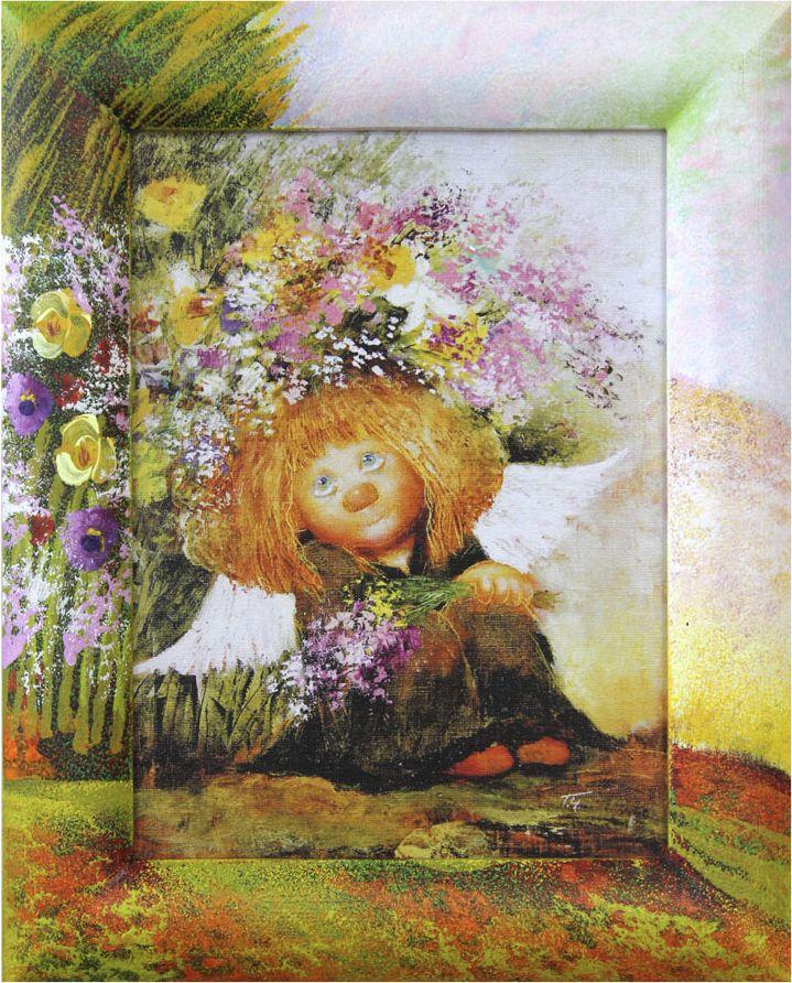 Жикле на холсте Artangels Ангел мечты в расписном багете, 18 х 24 см. Автор Галина Чувиляева. 40804080Жикле размером 18 х 24 см в деревянном расписном багете Ангел мечты.Авторское жикле в расписанной вручную раме. Современный мир насчитывает огромное количество изображений искусства, каждое из которых создается по своей технике. Например, жикле – это художественная печать на холсте и бумаге. Это современный вид искусства, который включает в себя использование разнообразных принтеров для репродукции картин в самом высочайшем качестве. К преимуществам использования данного вида искусства относят следующие показатели – долговечность полученного изображения, высочайшее качество отображения. Жикле – это французское слово, которое как раз и означает распыление, чтобы создать высококачественный шедевр, необходимо задействовать специальные принтеры. А в качестве материалов, которые необходимы для печати, используют специализированные холсты на основе хлопка или льна, помимо этого задействуются следующие материалы – высококачественные составы красок, акварельная бумага и другие характерные для этого вида искусства специализированные материалы. Безусловно, сейчас существует большое количество других способов цветопередачи, однако именно жикле обеспечивает максимальное качество, долговечность.