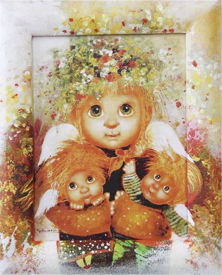Жикле на холсте Artangels Материнская любовь в расписном багете, 18 х 24 см. Автор Люся Чувиляева. 40824082Жикле размером 18 х 24 см в деревянном расписном багете Материнская любовь.Авторское жикле в расписанной вручную раме. Современный мир насчитывает огромное количество изображений искусства, каждое из которых создается по своей технике. Например, жикле – это художественная печать на холсте и бумаге. Это современный вид искусства, который включает в себя использование разнообразных принтеров для репродукции картин в самом высочайшем качестве. К преимуществам использования данного вида искусства относят следующие показатели – долговечность полученного изображения, высочайшее качество отображения. Жикле – это французское слово, которое как раз и означает распыление, чтобы создать высококачественный шедевр, необходимо задействовать специальные принтеры. А в качестве материалов, которые необходимы для печати, используют специализированные холсты на основе хлопка или льна, помимо этого задействуются следующие материалы – высококачественные составы красок, акварельная бумага и другие характерные для этого вида искусства специализированные материалы. Безусловно, сейчас существует большое количество других способов цветопередачи, однако именно жикле обеспечивает максимальное качество, долговечность.