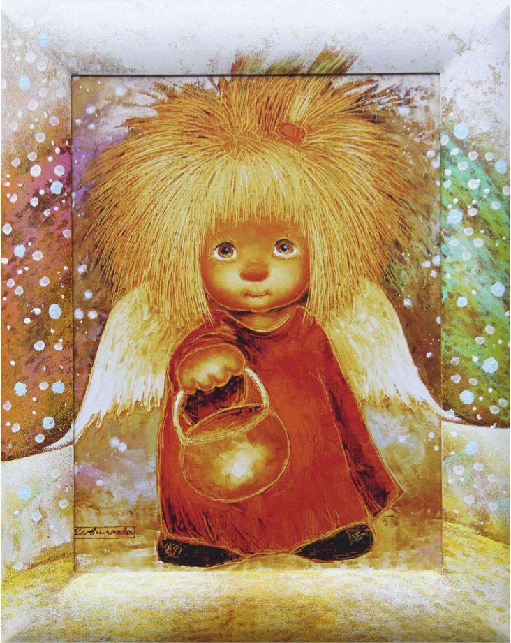 Жикле на холсте Artangels Ангел, освещающий жизненный путь в расписном багете, 30 х 40 см. Автор Люся Чувиляева. 60286028Жикле размером 30 х 40 см в деревянном расписном багете Ангел, освещающий жизненный путь. Авторское жикле в расписанной вручную раме. Современный мир насчитывает огромное количество изображений искусства, каждое из которых создается по своей технике. Например, жикле – это художественная печать на холсте и бумаге. Это современный вид искусства, который включает в себя использование разнообразных принтеров для репродукции картин в самом высочайшем качестве. К преимуществам использования данного вида искусства относят следующие показатели – долговечность полученного изображения, высочайшее качество отображения. Жикле – это французское слово, которое как раз и означает распыление, чтобы создать высококачественный шедевр, необходимо задействовать специальные принтеры. А в качестве материалов, которые необходимы для печати, используют специализированные холсты на основе хлопка или льна, помимо этого задействуются следующие материалы – высококачественные составы красок, акварельная бумага и другие характерные для этого вида искусства специализированные материалы. Безусловно, сейчас существует большое количество других способов цветопередачи, однако именно жикле обеспечивает максимальное качество, долговечность.