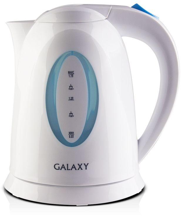 Galaxy GL 0218, White чайник электрический4630003366801Техника для приготовления горячих напитков Galaxy отвечает всем современным требованиям надежности и безопасности. При ее производстве используются только высококачественные и экологически безопасные материалы, а также нагревательные элементы и контроллеры высокого класса надежности. Среди разнообразия моделей каждая будет служить вам долгие годы, наполняя ваш быт комфортом!Galaxy GL 0218 - надежный электрочайник мощностью 2200 Вт в корпусе из высококачественного пластика. Прибор оснащен скрытым нагревательным элементом и позволяет вскипятить до 1,7 л воды. Беспроводное соединение позволяет вращать чайник наподставке на 360°.Данная модель оборудована светоиндикатором работы, съемным фильтром для воды и шкалой уровня воды. Для обеспечения безопасности при повседневном использовании предусмотрены функции: автовыключение при закипании и автовыключение при отсутствии воды.