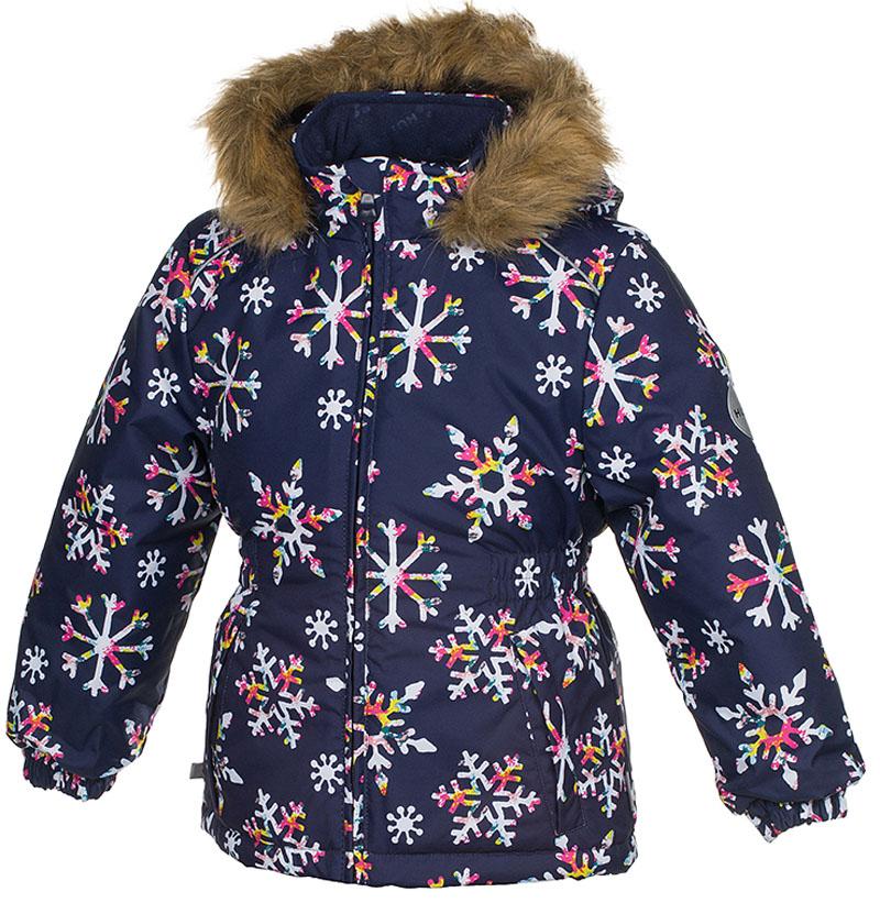 Куртка для девочки Huppa Marii, цвет: темно-синий. 17830030-71686. Размер 13417830030-71686Теплая куртка для девочки Huppa идеально подойдет для ребенка в холодное время года. Куртка изготовлена из 100% полиэстера. Вес утеплителя - 300 г.Куртка с капюшоном застегивается на пластиковую застежку-молнию. Капюшон, декорированный мехом, защитит нежные щечки от ветра. Спереди расположены два прорезных кармашка. Оформлено изделие оригинальным принтом.Предусмотрены светоотражающие элементы для безопасности ребенка в темное время суток.