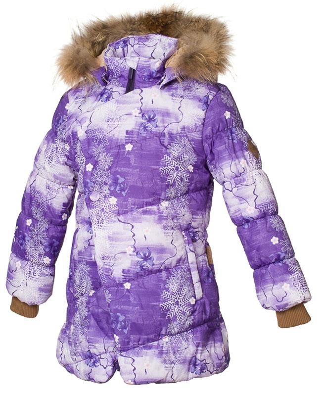 Куртка для девочки Huppa Rosa 1, цвет: лилoвый. 17910130-71353. Размер 14617910130-71353Теплая куртка для девочки Huppa идеально подойдет для ребенка в холодное время года. Куртка изготовлена из 100% полиэстера. Вес утеплителя - 300 г.Куртка с капюшоном застегивается на пластиковую застежку-молнию и кнопки. Капюшон, декорированный мехом, защитит нежные щечки от ветра. Предусмотрены светоотражающие элементы для безопасности ребенка в темное время суток.