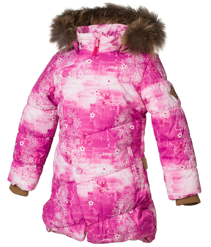 Куртка для девочки Huppa Rosa 1, цвет: фуксия. 17910130-71363. Размер 152 girls dress autumn winter baby girls dress christmas costume long sleeve kids party dresses for girls clothes vestidos 3a 12a