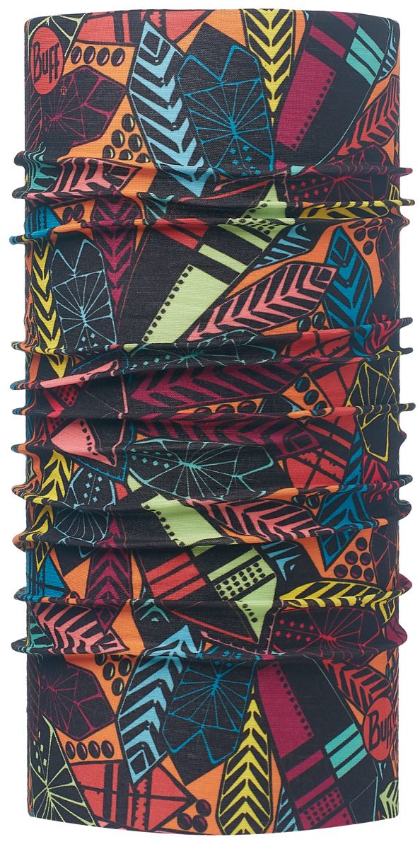 Бандана Buff Original Danu Multi-Multi-Standard, цвет: черный. 113068.555.10.00. Размер универсальный113068.555.10.00Buff - это оригинальные, мультифункциональные, бесшовные головные уборы - удобные и комфортные для любого вида активного отдыха и спорта. Оригинальные, потому что Buff был и является первым в мире брендом мультифункциональных, бесшовных и универсальных головных уборов. Мультифункциональные, потому что их можно носить самыми разными способами: как шарф, как шапку, как балаклаву, косынку, бандану, маску, напульсник и многими другими - решает Ваша фантазия! Универсальный головной убор, который можно носить более чем двенадцатью способами, который можно использовать при занятии любым видом спорта, езде на велосипеде и мотоцикле, катаясь или бегая на лыжах, и даже как аксессуар в городской одежде. Бесшовные, благодаря эластичности, позволяющей использовать эти головные уборы как угодно и не беспокоиться о том, что кожа может быть натерта или раздражена швами.