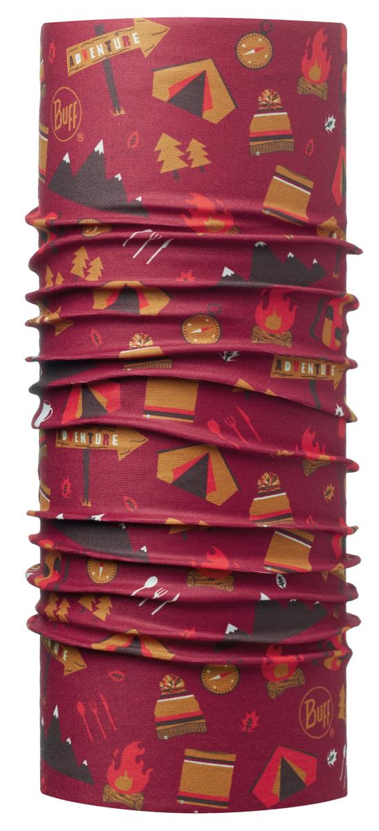 Бандана Buff Original Junior Adventure Grana-Grana-Standard, цвет: красный. 113392.427.10.00. Размер универсальный113392.427.10.00Buff - это оригинальные, мультифункциональные, бесшовные головные уборы - удобные и комфортные для любого вида активного отдыха и спорта. Оригинальные, потому что Buff был и является первым в мире брендом мультифункциональных, бесшовных и универсальных головных уборов. Мультифункциональные, потому что их можно носить самыми разными способами: как шарф, как шапку, как балаклаву, косынку, бандану, маску, напульсник и многими другими - решает Ваша фантазия! Универсальный головной убор, который можно носить более чем двенадцатью способами, который можно использовать при занятии любым видом спорта, езде на велосипеде и мотоцикле, катаясь или бегая на лыжах, и даже как аксессуар в городской одежде. Бесшовные, благодаря эластичности, позволяющей использовать эти головные уборы как угодно и не беспокоиться о том, что кожа может быть натерта или раздражена швами.