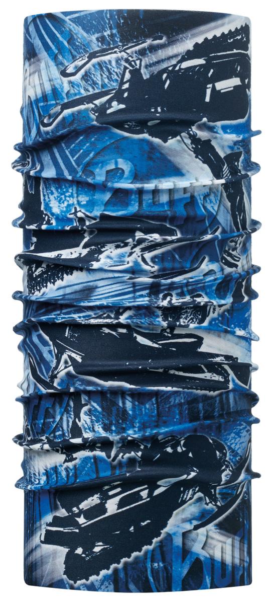 Бандана Buff Original Junior Jump Blue-Blue-Standard, цвет: синий. 113395.707.10.00. Размер универсальный113395.707.10.00Buff - это оригинальные, мультифункциональные, бесшовные головные уборы - удобные и комфортные для любого вида активного отдыха и спорта. Оригинальные, потому что Buff был и является первым в мире брендом мультифункциональных, бесшовных и универсальных головных уборов. Мультифункциональные, потому что их можно носить самыми разными способами: как шарф, как шапку, как балаклаву, косынку, бандану, маску, напульсник и многими другими - решает Ваша фантазия! Универсальный головной убор, который можно носить более чем двенадцатью способами, который можно использовать при занятии любым видом спорта, езде на велосипеде и мотоцикле, катаясь или бегая на лыжах, и даже как аксессуар в городской одежде. Бесшовные, благодаря эластичности, позволяющей использовать эти головные уборы как угодно и не беспокоиться о том, что кожа может быть натерта или раздражена швами.