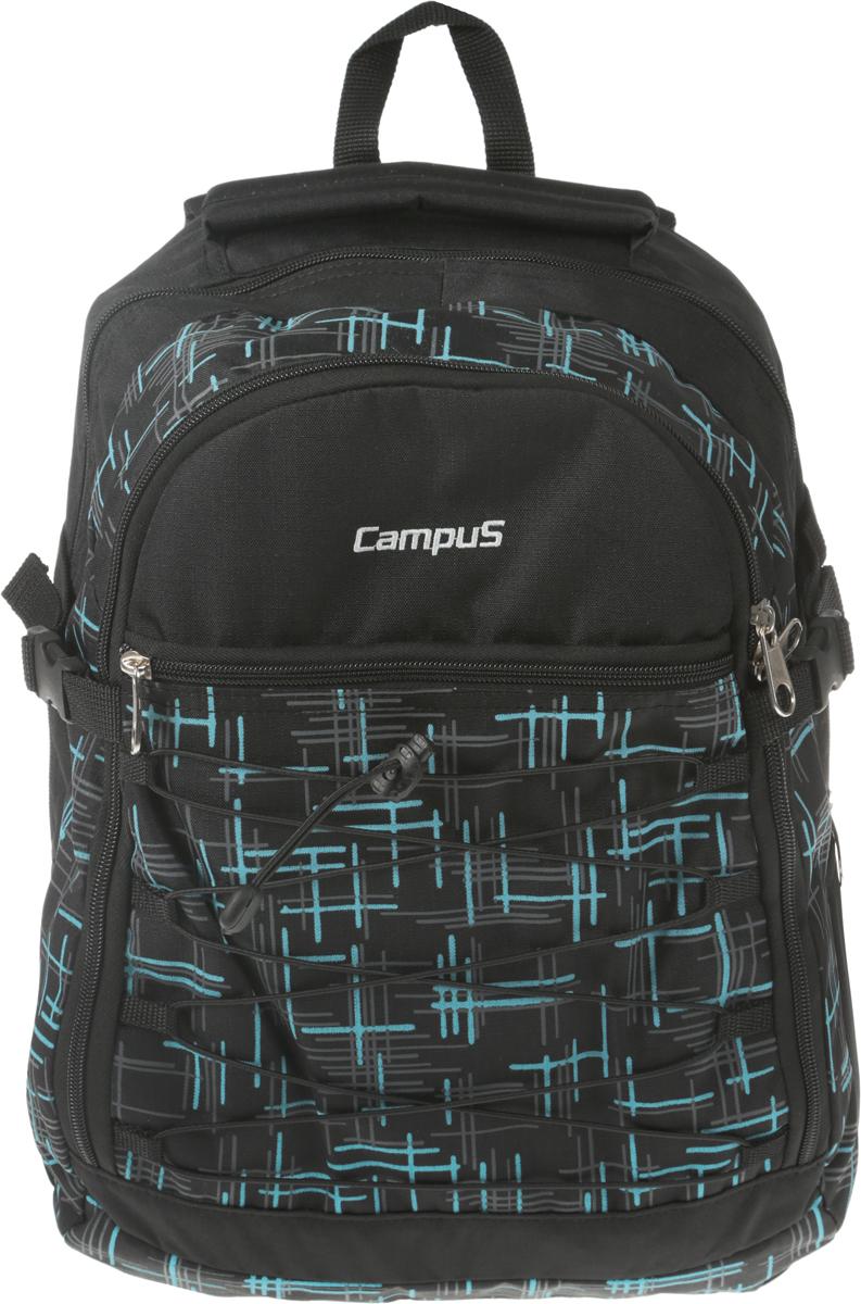 Рюкзак городской Campus Murter, цвет: черный, синий. 50380251308105038025130810Рюкзак, который идеально подходит для пеших прогулок, так и дляповседневного использования. Рюкзак сделан из высококачественныхматериалов, поэтому отличается высокой прочностью.* материал полиэстер ripstop* очень прочные и долговечные молнии* усиленная нижняя часть рюкзака* два основных отделения, на молнии. В одном из них имеетсяорганайзер на молнии* передний карман на молнии* резиновый рант на переднем кармане* боковые компрессионные ремни* боковой карман для фляги*ручка для переноски* ручка (держатель), чтобы повесить рюкзак* удобная спинка и плечевые ремни* вес: 0,58 кг* емкость 35л
