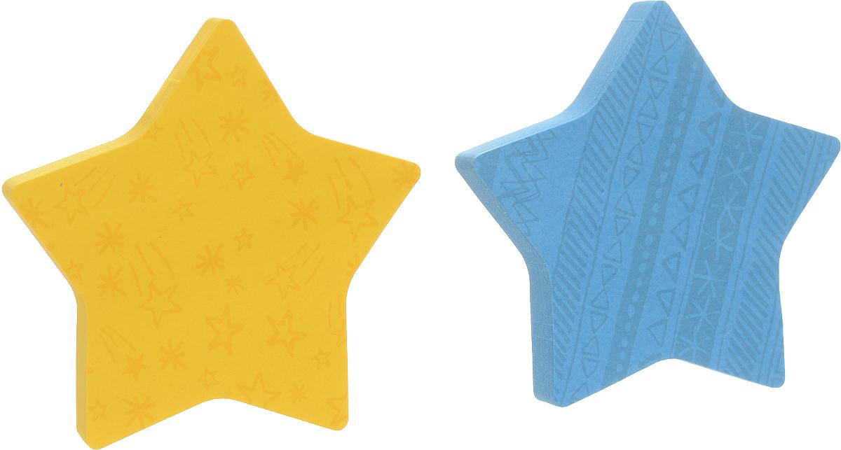 Post-it Бумага для заметок Звезда с липким слоем цвет желтый голубой 150 листов7350-STR**_желтый, голубойФигурные клейкие листочки Post-it Звезда подчеркнут вашу индивидуальность! Яркие цвета, форма звездочки, фоновые рисунки на каждом листочке - такое сообщение невозможно не заметить. Несмотря на свою оригинальную форму, они приклеиваются также хорошо, как традиционные.