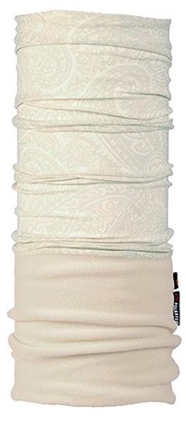 Бандана Buff Polar Active Kashfly\Cru Polartec, цвет: белый. 101077/41474. Размер универсальный101077/41474Теплая бандана-шарф Polar Buff - это бандана-труба из серии Original Buff, пришитая к цилиндру из Polartec Classic Fleece 100. В холодную погоду Polar Buff поддерживает нормальную температуру тела и предотвращает потерю тепла, благодаря комбинации микрофибры и Polartec. Благодаря своей универсальности, функциональности и практичности Polar Buff завоевал огромную популярность среди людей, ее можно использовать как шапку, шарф, бандану на лицо и уши, балаклаву, маску. Неотъемлемая часть зимней одежды, подходит для любой активности в холодное время года. Размер (обхват головы): 53-62 см.