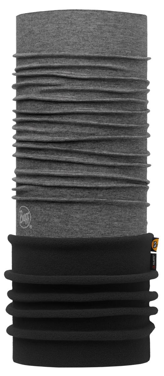 Бандана Buff Polar Grey Stripes / Black-Grey-Standard, цвет: серый. 113110.937.10.00. Размер универсальный113110.937.10.00Теплая бандана-шарф Polar Buff - это бандана-труба из серии Original Buff, пришитая к цилиндру из Polartec Classic Fleece 100. В холодную погоду Polar Buff поддерживает нормальную температуру тела и предотвращает потерю тепла, благодаря комбинации микрофибры и Polartec. Благодаря своей универсальности, функциональности и практичности Polar Buff завоевал огромную популярность среди людей, ее можно использовать как шапку, шарф, бандану на лицо и уши, балаклаву, маску. Неотъемлемая часть зимней одежды, подходит для любой активности в холодное время года.