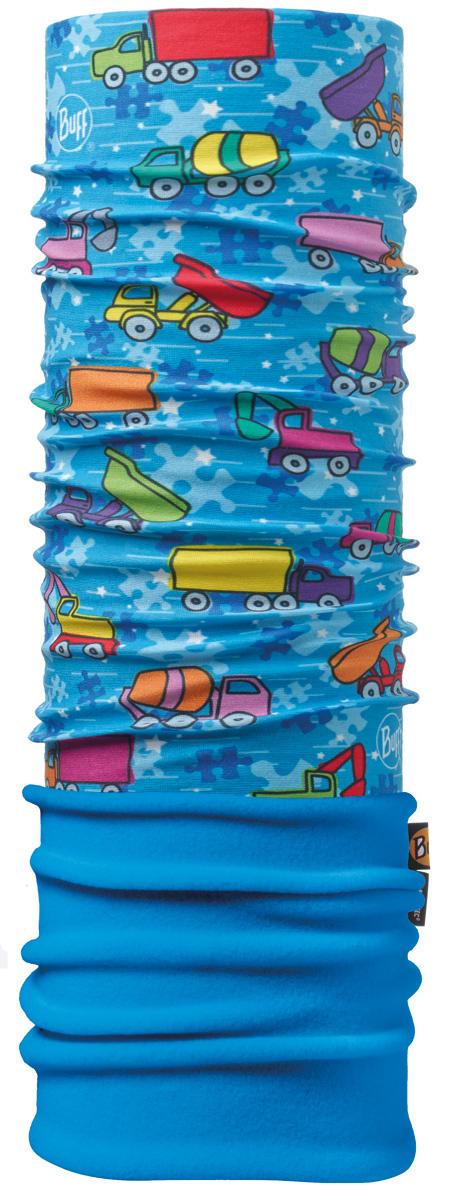 Бандана детская Buff Polar Toy Truck / Harbor, цвет: голубой. 111277.00. Размер универсальный111277.00Теплая бандана-шарф Polar Buff - это бандана-труба из серии Original Buff, пришитая к цилиндру из Polartec Classic Fleece 100. В холодную погоду Polar Buff поддерживает нормальную температуру тела и предотвращает потерю тепла, благодаря комбинации микрофибры и Polartec. Благодаря своей универсальности, функциональности и практичности Polar Buff завоевал огромную популярность среди людей, ее можно использовать как шапку, шарф, бандану на лицо и уши, балаклаву, маску. Неотъемлемая часть зимней одежды, подходит для любой активности в холодное время года. Размер (обхват головы): 45-47 см.