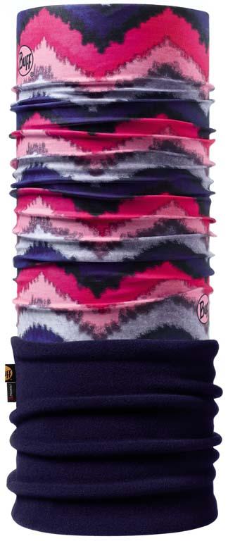 Купить Бандана Buff Polar Ziga / Navy, цвет: розовый. 108972.00. Размер универсальный