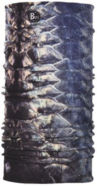 Бандана Buff Tarpon, цвет: синий. 18986. Размер универсальный18986Buff - это оригинальные, мультифункциональные, бесшовные головные уборы - удобные и комфортные для любого вида активного отдыха и спорта. Оригинальные, потому что Buff был и является первым в мире брендом мультифункциональных, бесшовных и универсальных головных уборов. Мультифункциональные, потому что их можно носить самыми разными способами: как шарф, как шапку, как балаклаву, косынку, бандану, маску, напульсник и многими другими - решает Ваша фантазия! Универсальный головной убор, который можно носить более чем двенадцатью способами, который можно использовать при занятии любым видом спорта, езде на велосипеде и мотоцикле, катаясь или бегая на лыжах, и даже как аксессуар в городской одежде. Бесшовные, благодаря эластичности, позволяющей использовать эти головные уборы как угодно и не беспокоиться о том, что кожа может быть натерта или раздражена швами. Размер (обхват головы): 53-62 см.