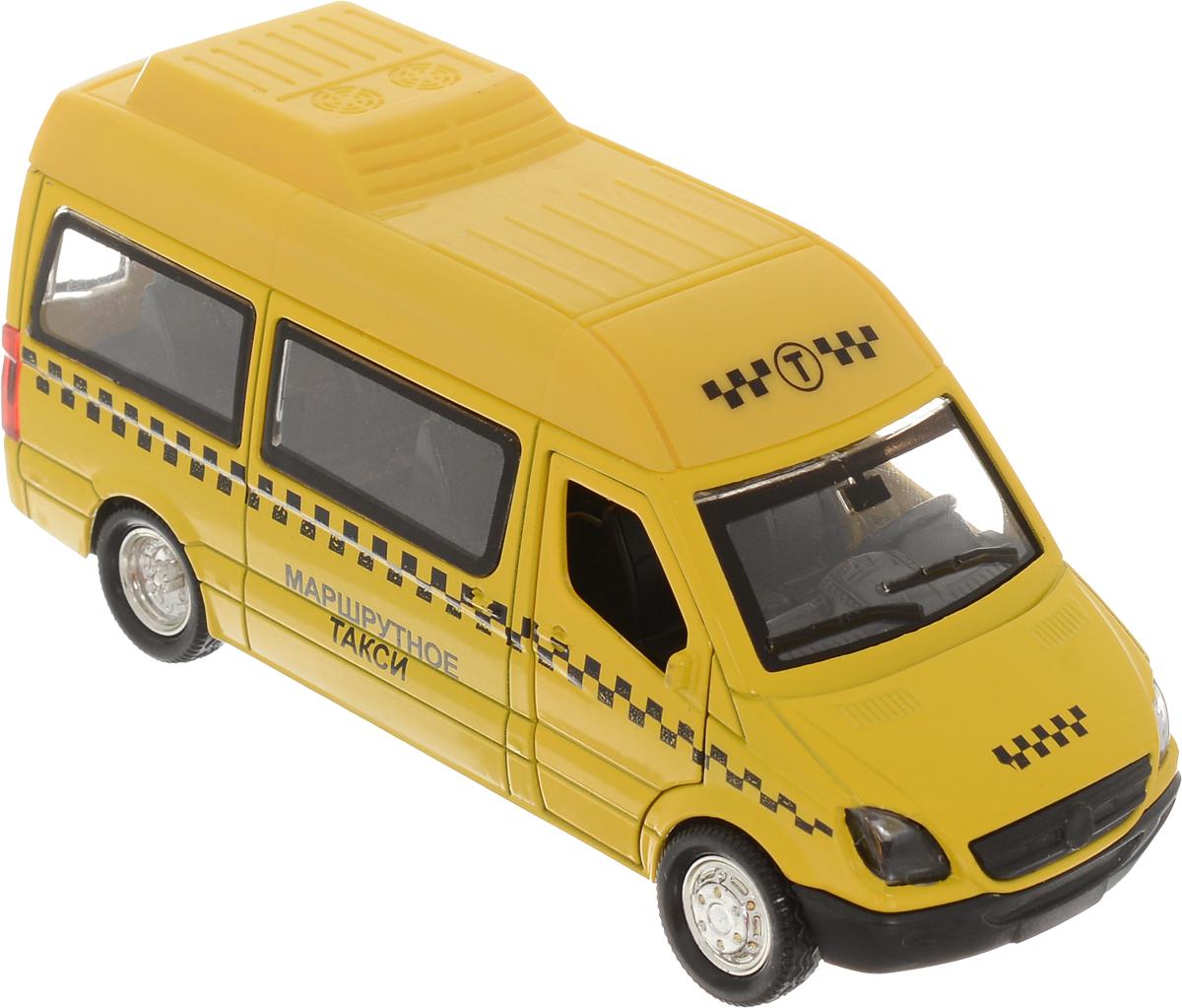 ТехноПарк Машинка инерционная Маршрутное такси цвет желтый пламенный мотор машинка инерционная volvo пожарная охрана