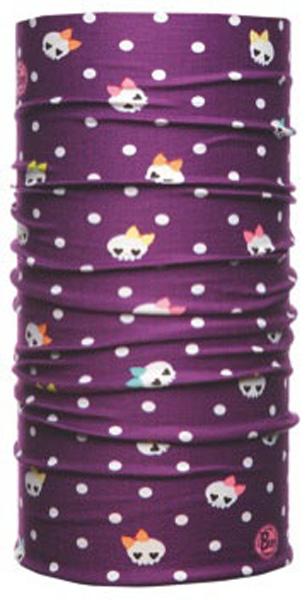 Бандана Buff Tubular UV Junior Polka, цвет: фиолетовый. 811201.00. Размер универсальный811201.00Buff - это оригинальные, мультифункциональные, бесшовные головные уборы - удобные и комфортные для любого вида активного отдыха и спорта. Оригинальные, потому что Buff был и является первым в мире брендом мультифункциональных, бесшовных и универсальных головных уборов. Мультифункциональные, потому что их можно носить самыми разными способами: как шарф, как шапку, как балаклаву, косынку, бандану, маску, напульсник и многими другими - решает Ваша фантазия! Универсальный головной убор, который можно носить более чем двенадцатью способами, который можно использовать при занятии любым видом спорта, езде на велосипеде и мотоцикле, катаясь или бегая на лыжах, и даже как аксессуар в городской одежде. Бесшовные, благодаря эластичности, позволяющей использовать эти головные уборы как угодно и не беспокоиться о том, что кожа может быть натерта или раздражена швами.