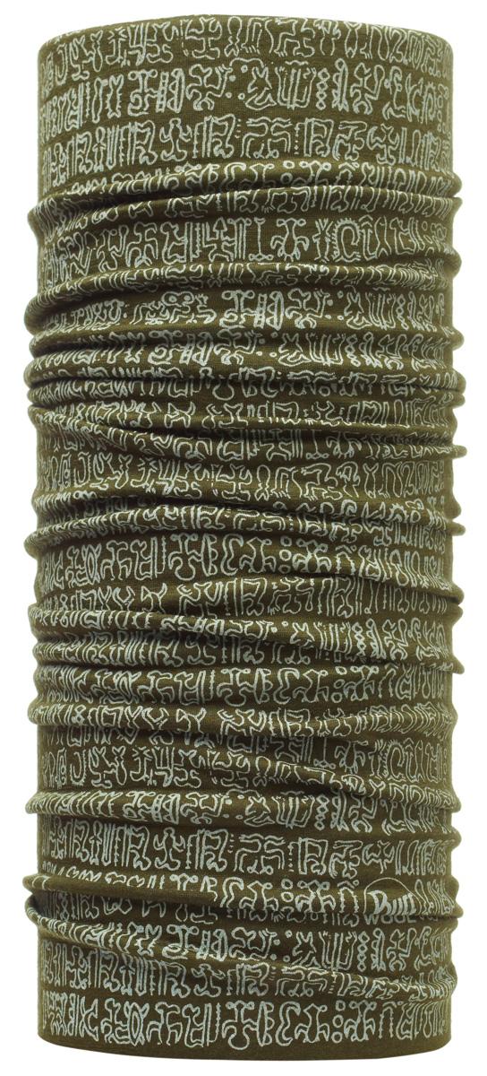 Бандана Buff Wool National Geographic Rongorongo, цвет: хаки. 107636.00. Размер универсальныйc.00Buff - это оригинальные, мультифункциональные, бесшовные головные уборы - удобные и комфортные для любого вида активного отдыха и спорта. Оригинальные, потому что Buff был и является первым в мире брендом мультифункциональных, бесшовных и универсальных головных уборов. Мультифункциональные, потому что их можно носить самыми разными способами: как шарф, как шапку, как балаклаву, косынку, бандану, маску, напульсник и многими другими - решает Ваша фантазия! Универсальный головной убор, который можно носить более чем двенадцатью способами, который можно использовать при занятии любым видом спорта, езде на велосипеде и мотоцикле, катаясь или бегая на лыжах, и даже как аксессуар в городской одежде. Бесшовные, благодаря эластичности, позволяющей использовать эти головные уборы как угодно и не беспокоиться о том, что кожа может быть натерта или раздражена швами. Размер (обхват головы): 53-62 см.