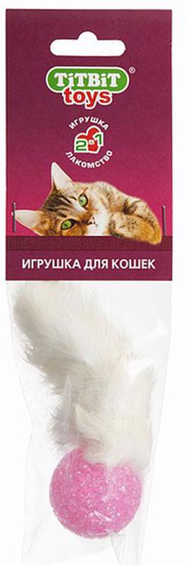 Игрушка-лакомство для кошек Titbit Хвост кроличий, длина 10,5 см000083Игрушка-лакомство для кошек Titbit Хвост кроличий с натуральным кроличьим хвостиком порадует вашего питомца. Охотничьи инстинкты нужно поощрять и развивать. Игрушка эффективна для ухода за ротовой полостью во время игры. Удаляет налет с зубов. Предупреждает образование зубного камня. Укрепляет десны.Диаметр шарика: 4 см.Длина игрушки: 10,5 см. Товар сертифицирован.Уважаемые клиенты! Обращаем ваше внимание на цветовой ассортимент товара. Поставка осуществляется в зависимости от наличия на складе.
