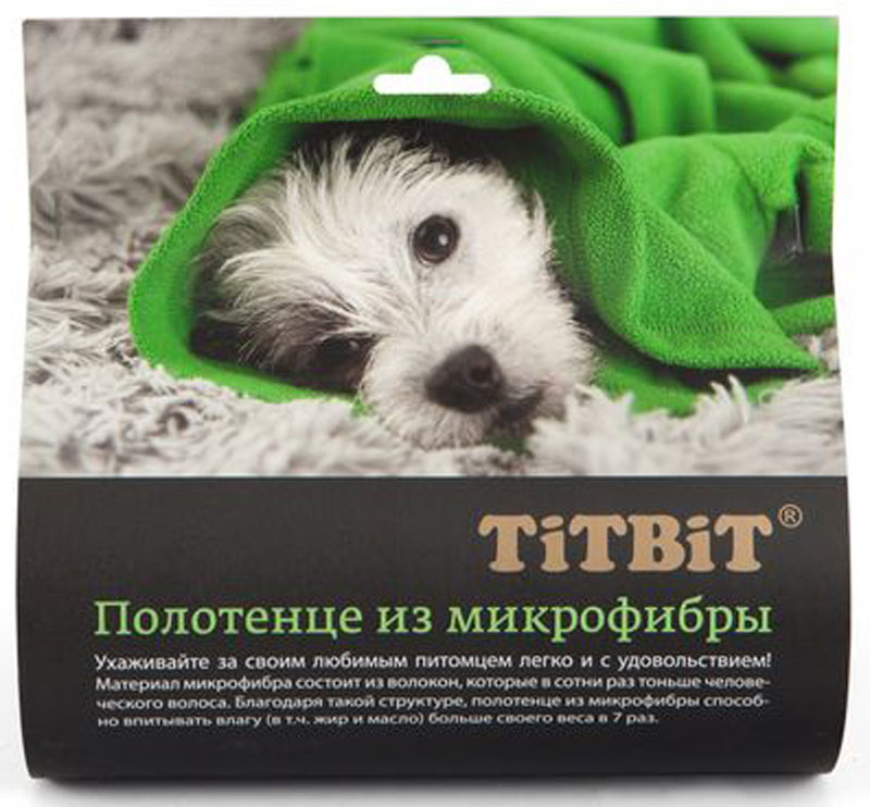 Полотенце для животных  Titbit , 60 х 90 см - Товары для ухода (груминг)