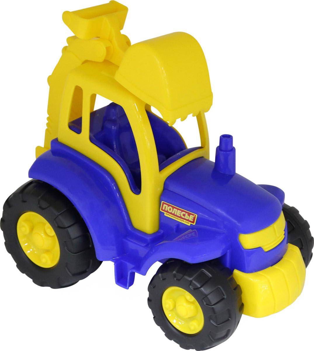 полесье трактор чемпион цвет синий желтый Полесье Трактор-экскаватор Чемпион