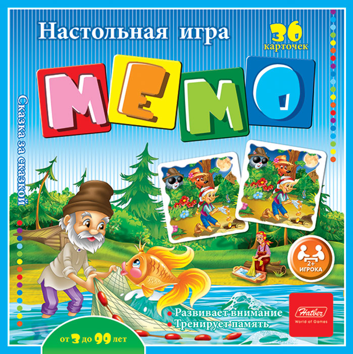 Hatber Обучающая игра Мемо Сказка за сказкой игра