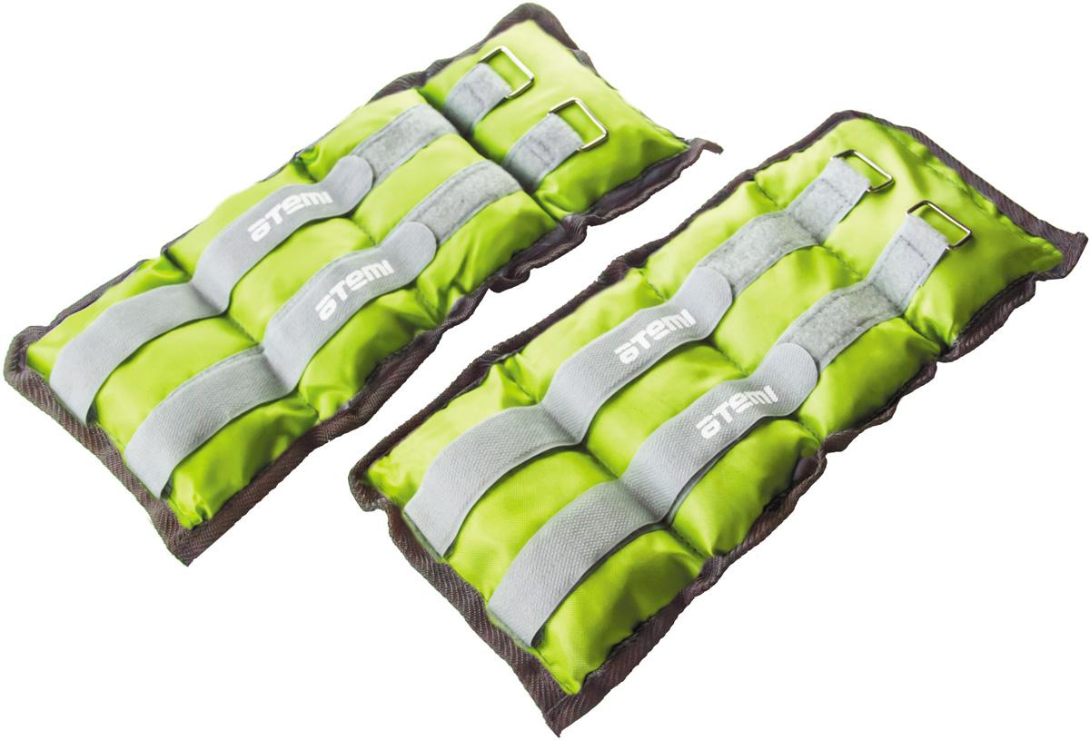 """Утяжелители для рук и ног нейлоновые """"ATEMI"""", цвет в ассортименте, 2х1,5 кг. AAW-02-3"""