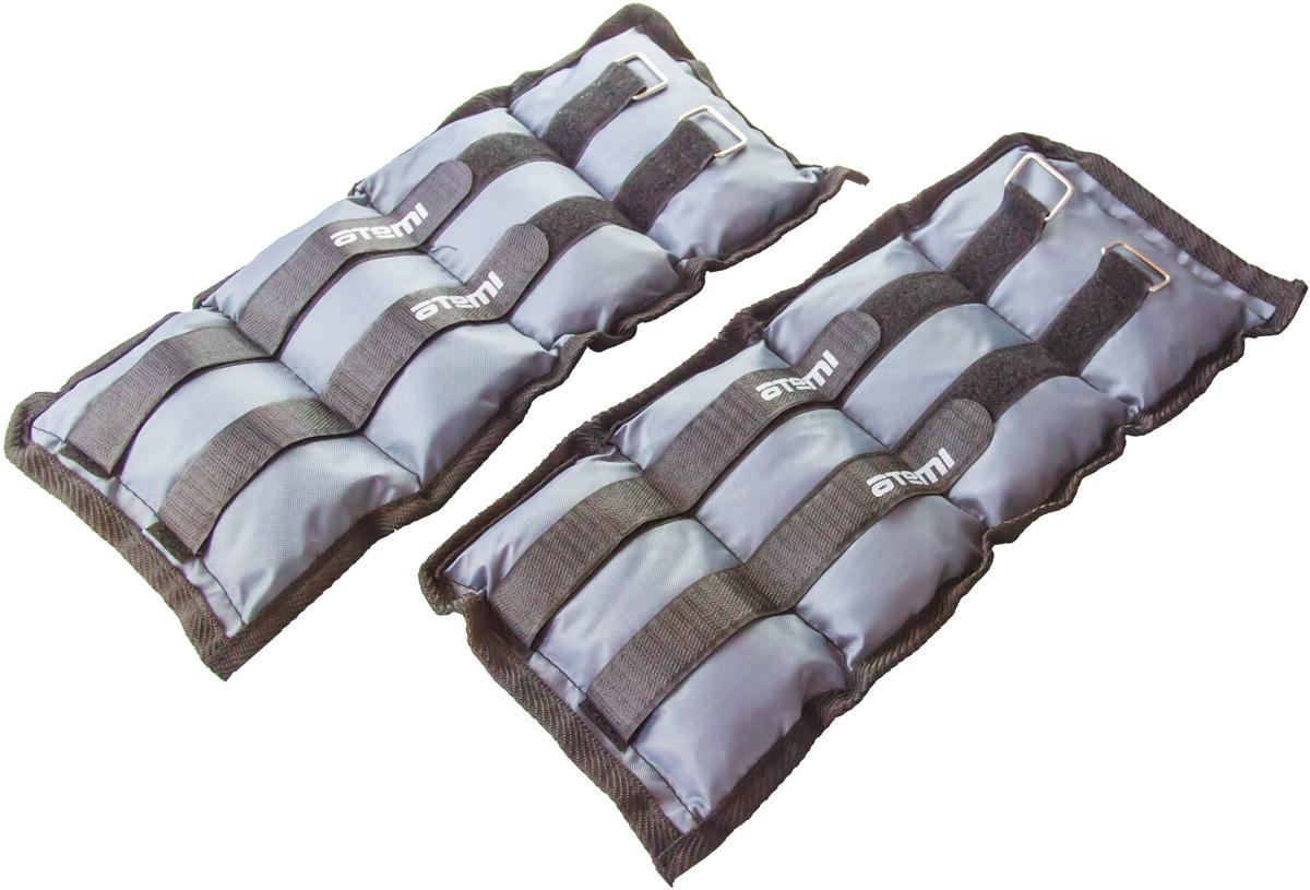 Утяжелители Atemi, цвет черный, 2 х 2 кг эспандер грудной atemi цвет оранжевый черный 2 х 2 х 65 см