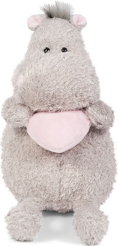 Maxitoys Luxury Мягкая игрушка Бегемот с розовым сердцем 25 см maxitoys подушка с ручками