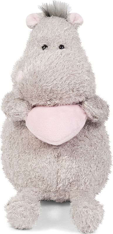 Maxitoys Luxury Мягкая игрушка Бегемот с розовым сердцем 20 см maxitoys подушка с ручками