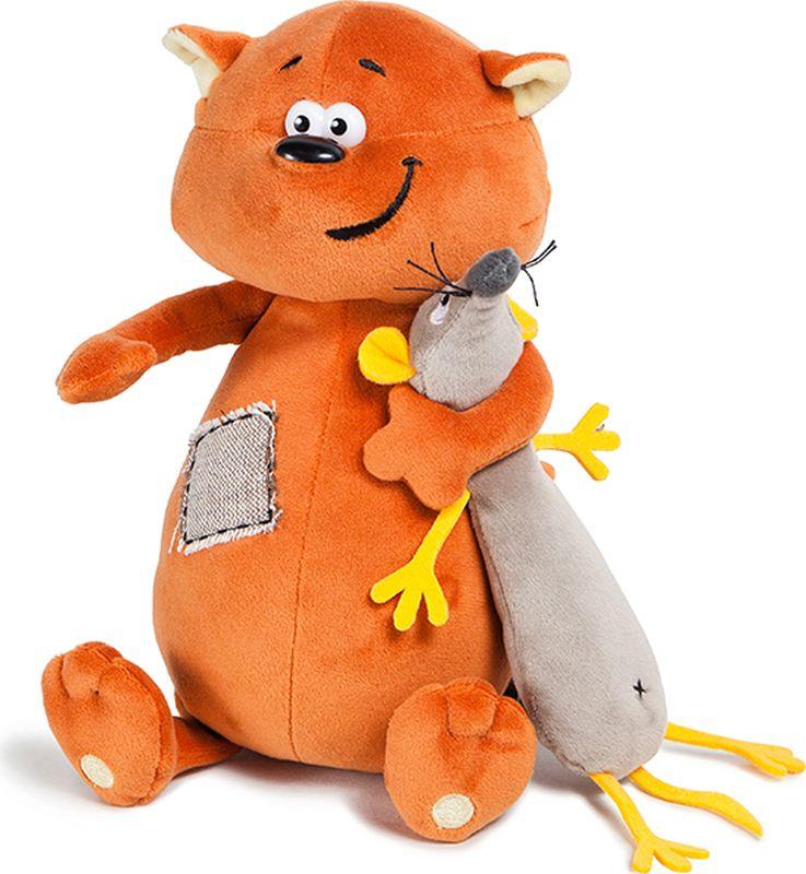 ДуRашки Мягкая игрушка Котэ & Mouse 25 см малышарики мягкая игрушка собака бассет хаунд 23 см