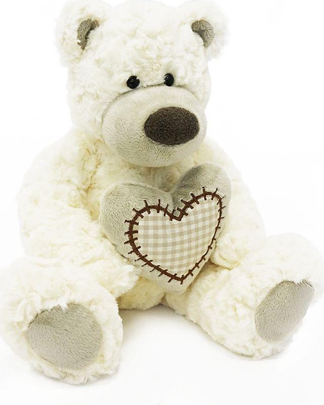 Maxitoys Luxury Мягкая игрушка Мишка Лавли цвет белый 19 см maxitoys подушка с ручками