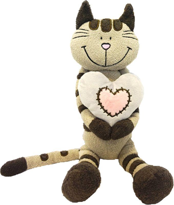 Maxitoys Luxury Мягкая игрушка Кот Полосатик с сердцем 33 см maxitoys бони