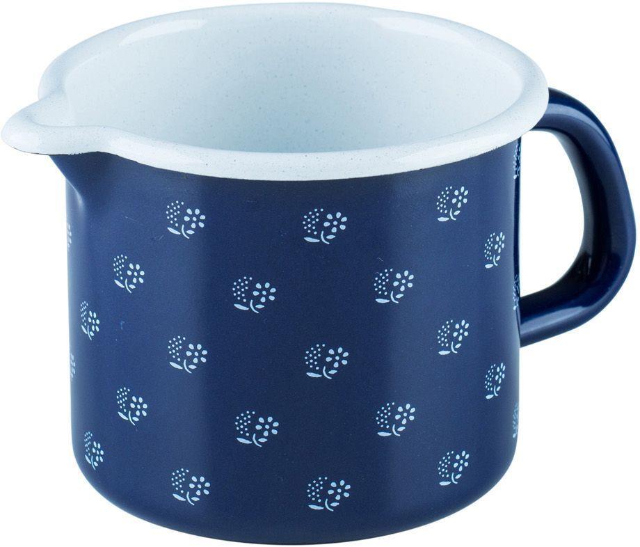 Кружка Riess Dirndlblau, 500 мл0038-074Торговая марка «Riess» представляет собой эксклюзивную коллекцию стальной посуды, покрытую двумя слоями стекловидной эмали. Производится в Австрии с 1550 года с применением новейших технологий. Высочайшее качество и уникальный дизайн широко известны и высоко оценены покупателями эмалированной посуды во всем мире. Разнообразные расцветки с уникальным декором являются вдохновением к приготовлению пищи и воплощают в жизнь все последние тенденции в декорации кухни и столовой. Благодаря высокой устойчивости к ультрафиолетовому излучению, вы очень долго будете наслаждаться нежными расцветками и блеском эмалированной посуды «Riess». В жаровнях и сковородках можно варить, жарить, тушить. Подходит для всех видов плит, включая индукционную. Также можно использовать в духовке. Легко очищаются: достаточно ненадолго замочить в воде и протереть губкой для мытья посуды с моющим средством.Можно использовать моющие средства и мыть в посудомоечной машине. При уходе за изделием запрещается использовать абразивные материалы. Срок годности не ограничен.
