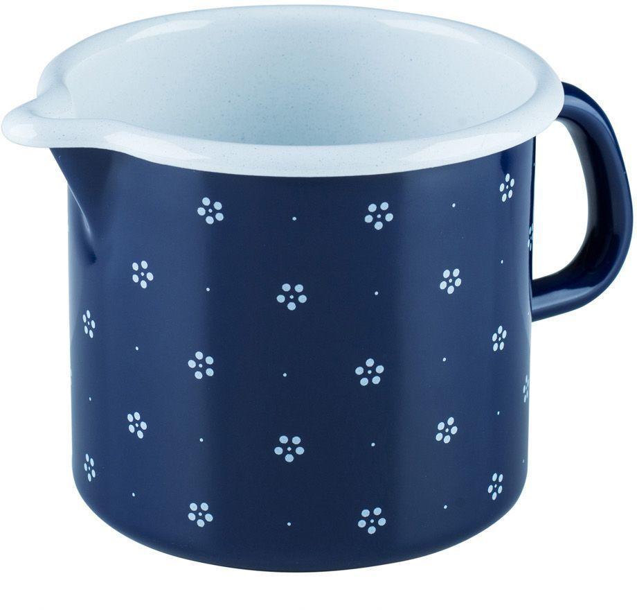 Кружка Riess Blumchenblau, 1 л0040-073Торговая марка «Riess» представляет собой эксклюзивную коллекцию стальной посуды, покрытую двумя слоями стекловидной эмали. Производится в Австрии с 1550 года с применением новейших технологий. Высочайшее качество и уникальный дизайн широко известны и высоко оценены покупателями эмалированной посуды во всем мире. Разнообразные расцветки с уникальным декором являются вдохновением к приготовлению пищи и воплощают в жизнь все последние тенденции в декорации кухни и столовой. Благодаря высокой устойчивости к ультрафиолетовому излучению, вы очень долго будете наслаждаться нежными расцветками и блеском эмалированной посуды «Riess». В жаровнях и сковородках можно варить, жарить, тушить. Подходит для всех видов плит, включая индукционную. Также можно использовать в духовке. Легко очищаются: достаточно ненадолго замочить в воде и протереть губкой для мытья посуды с моющим средством.Можно использовать моющие средства и мыть в посудомоечной машине. При уходе за изделием запрещается использовать абразивные материалы. Срок годности не ограничен.