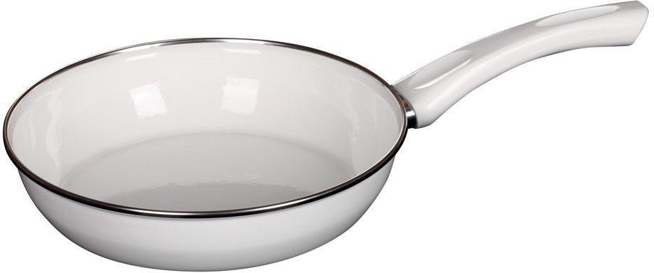 Сковорода Riess Ceraglas-Weiss, с эмалевым покрытием. Диаметр 24 см0042-033Торговая марка «Riess» представляет собой эксклюзивную коллекцию стальной посуды, покрытую двумя слоями стекловидной эмали. Производится в Австрии с 1550 года с применением новейших технологий. Высочайшее качество и уникальный дизайн широко известны и высоко оценены покупателями эмалированной посуды во всем мире. Разнообразные расцветки с уникальным декором являются вдохновением к приготовлению пищи и воплощают в жизнь все последние тенденции в декорации кухни и столовой. Благодаря высокой устойчивости к ультрафиолетовому излучению, вы очень долго будете наслаждаться нежными расцветками и блеском эмалированной посуды «Riess». В жаровнях и сковородках можно варить, жарить, тушить. Подходит для всех видов плит, включая индукционную. Также можно использовать в духовке. Легко очищаются: достаточно ненадолго замочить в воде и протереть губкой для мытья посуды с моющим средством.Можно использовать моющие средства и мыть в посудомоечной машине. При уходе за изделием запрещается использовать абразивные материалы. Срок годности не ограничен.