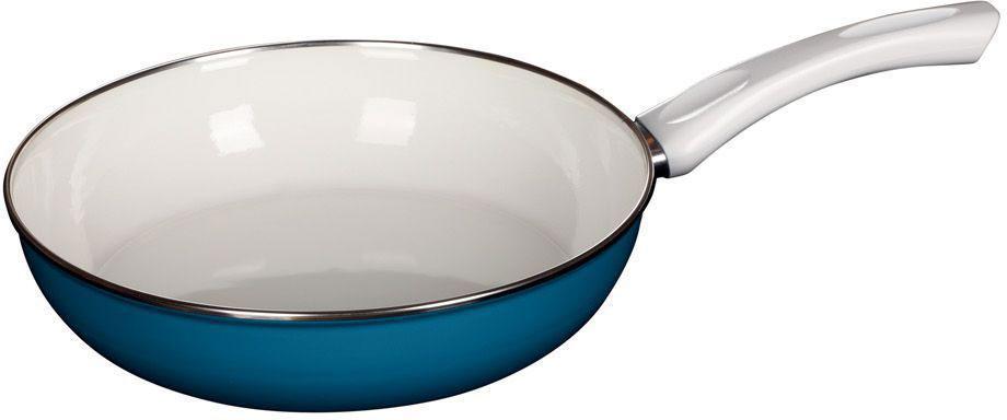 Сковорода Riess Ceraglas-Blau, с эмалевым покрытием. Диаметр 28 см0057-032Торговая марка «Riess» представляет собой эксклюзивную коллекцию стальной посуды, покрытую двумя слоями стекловидной эмали. Производится в Австрии с 1550 года с применением новейших технологий. Высочайшее качество и уникальный дизайн широко известны и высоко оценены покупателями эмалированной посуды во всем мире. Разнообразные расцветки с уникальным декором являются вдохновением к приготовлению пищи и воплощают в жизнь все последние тенденции в декорации кухни и столовой. Благодаря высокой устойчивости к ультрафиолетовому излучению, вы очень долго будете наслаждаться нежными расцветками и блеском эмалированной посуды «Riess». В жаровнях и сковородках можно варить, жарить, тушить. Подходит для всех видов плит, включая индукционную. Также можно использовать в духовке. Легко очищаются: достаточно ненадолго замочить в воде и протереть губкой для мытья посуды с моющим средством.Можно использовать моющие средства и мыть в посудомоечной машине. При уходе за изделием запрещается использовать абразивные материалы. Срок годности не ограничен.