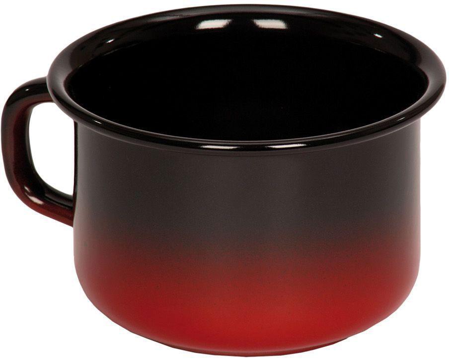 Кружка Riess Rot, 400 мл0299-020Торговая марка «Riess» представляет собой эксклюзивную коллекцию стальной посуды, покрытую двумя слоями стекловидной эмали. Производится в Австрии с 1550 года с применением новейших технологий. Высочайшее качество и уникальный дизайн широко известны и высоко оценены покупателями эмалированной посуды во всем мире. Разнообразные расцветки с уникальным декором являются вдохновением к приготовлению пищи и воплощают в жизнь все последние тенденции в декорации кухни и столовой. Благодаря высокой устойчивости к ультрафиолетовому излучению, вы очень долго будете наслаждаться нежными расцветками и блеском эмалированной посуды «Riess». В жаровнях и сковородках можно варить, жарить, тушить. Подходит для всех видов плит, включая индукционную. Также можно использовать в духовке. Легко очищаются: достаточно ненадолго замочить в воде и протереть губкой для мытья посуды с моющим средством.Можно использовать моющие средства и мыть в посудомоечной машине. При уходе за изделием запрещается использовать абразивные материалы. Срок годности не ограничен.