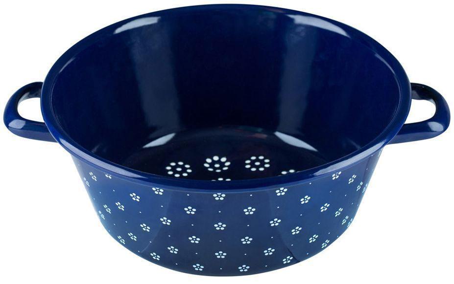 Дуршлаг Riess Blumchenblau, диаметр 26 см0328-073Торговая марка «Riess» представляет собой эксклюзивную коллекцию стальной посуды, покрытую двумя слоями стекловидной эмали. Производится в Австрии с 1550 года с применением новейших технологий. Высочайшее качество и уникальный дизайн широко известны и высоко оценены покупателями эмалированной посуды во всем мире. Разнообразные расцветки с уникальным декором являются вдохновением к приготовлению пищи и воплощают в жизнь все последние тенденции в декорации кухни и столовой. Благодаря высокой устойчивости к ультрафиолетовому излучению, вы очень долго будете наслаждаться нежными расцветками и блеском эмалированной посуды «Riess». В жаровнях и сковородках можно варить, жарить, тушить. Подходит для всех видов плит, включая индукционную. Также можно использовать в духовке. Легко очищаются: достаточно ненадолго замочить в воде и протереть губкой для мытья посуды с моющим средством.Можно использовать моющие средства и мыть в посудомоечной машине. При уходе за изделием запрещается использовать абразивные материалы. Срок годности не ограничен.